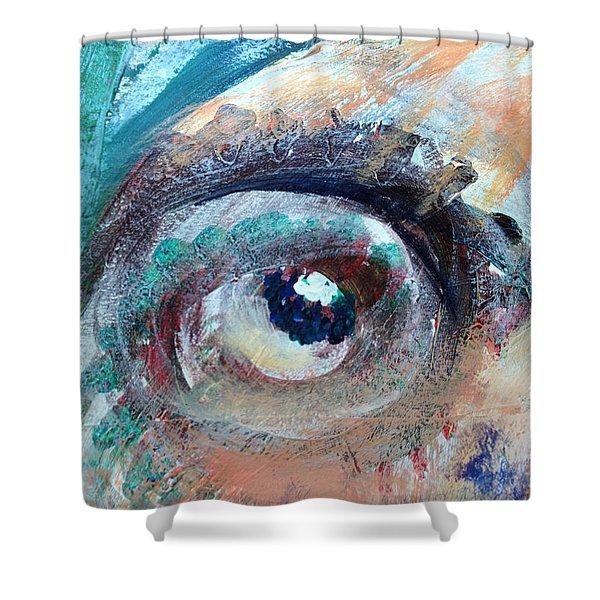 Eye Go Slow Shower Curtain