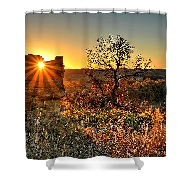 Eye Of The Monolith Shower Curtain