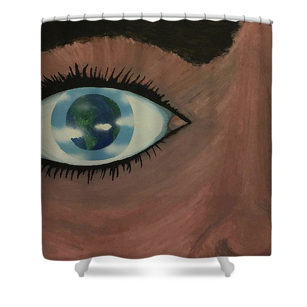 Eye Of The World Shower Curtain