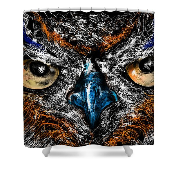Eyes In The Night... Shower Curtain