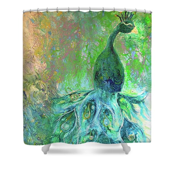 Eyes Of Eden Peacock Shower Curtain