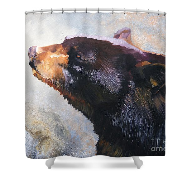 Eyes Turned Skyward Shower Curtain