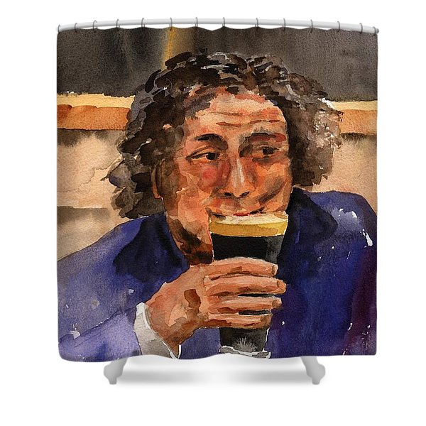 F 821  The Pint Man Shower Curtain