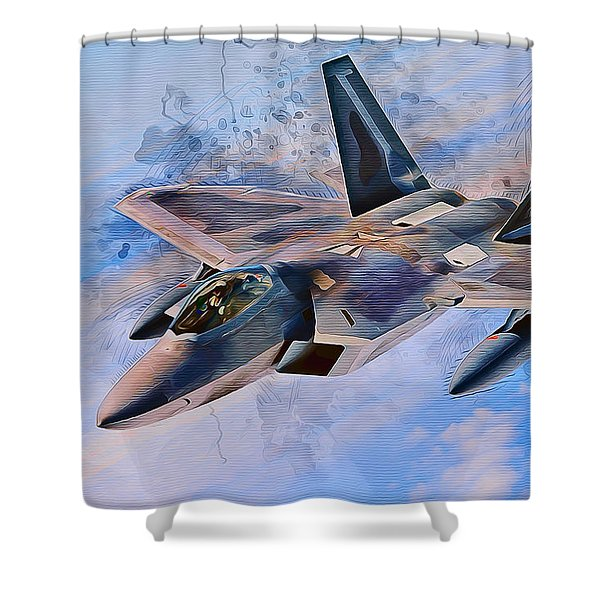 F22 Raptor Shower Curtain