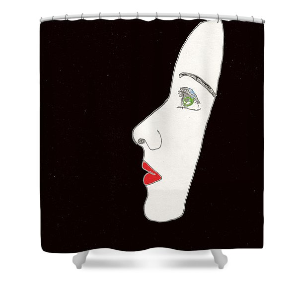 Face In Profile Shower Curtain
