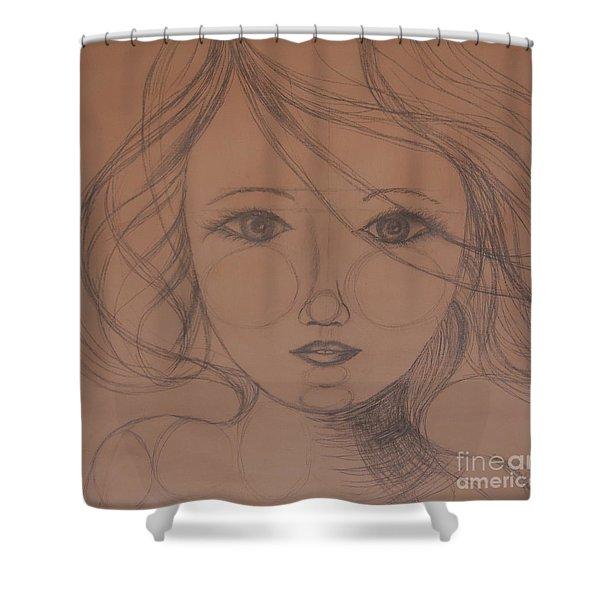 Face Study Shower Curtain