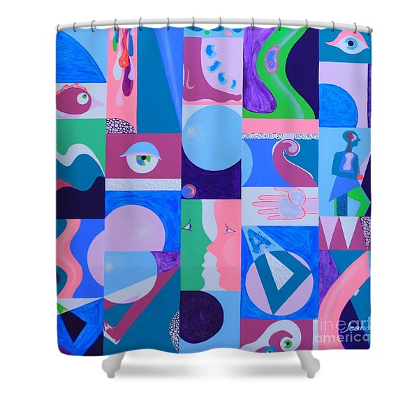 Face-to-face  Shower Curtain