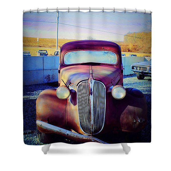 Facelift Wanted Car Shower Curtain