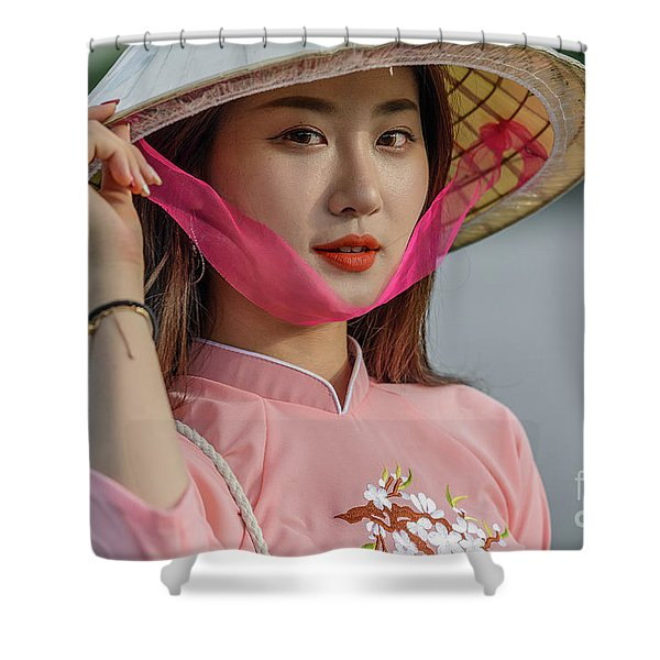 Faces Of Hoian - 04 Shower Curtain