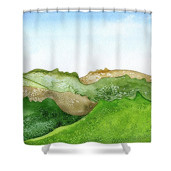 Facescape 1 Shower Curtain