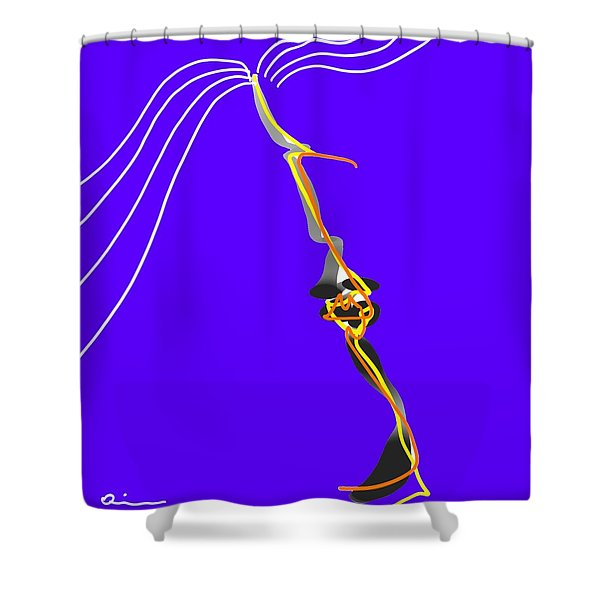 Facial Shower Curtain