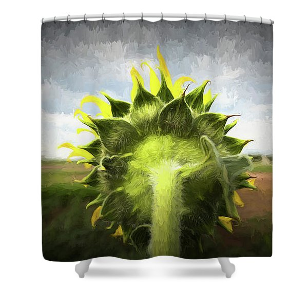 Facing The Day Shower Curtain