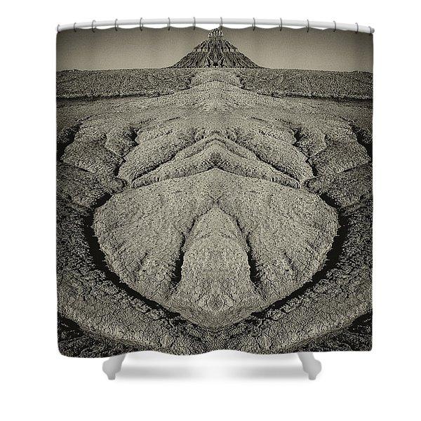 Factory Butte Digital Art Shower Curtain