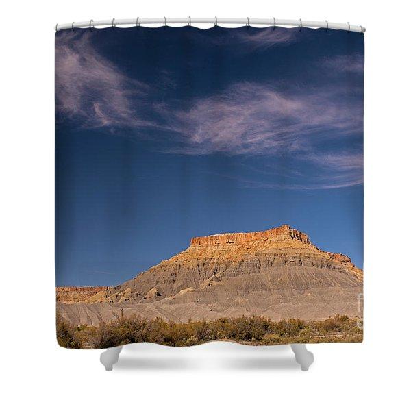 Factory Butte Utah Shower Curtain