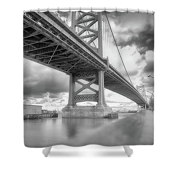 Fade To Bridge Shower Curtain