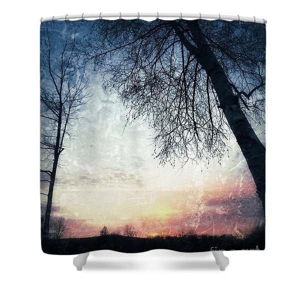 Fading Sunset Shower Curtain