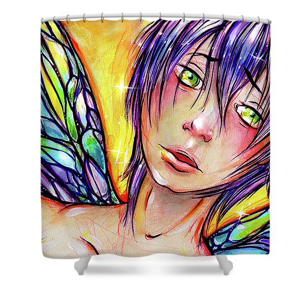 Faery Boy Shower Curtain