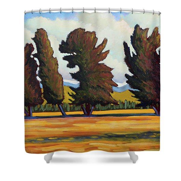 Fairfield Tree Row Shower Curtain