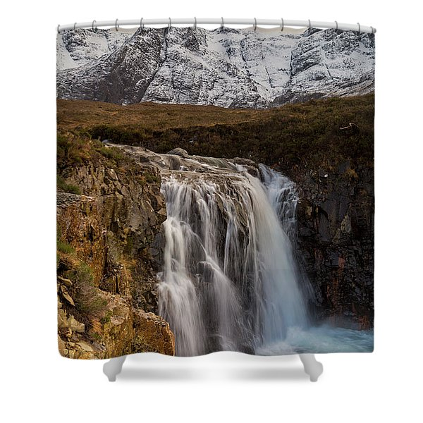 Fairy Pools Waterfall, Isle Of Skye Shower Curtain