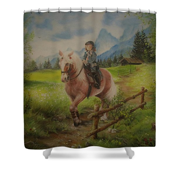 Fairy Tale In The Alps Shower Curtain