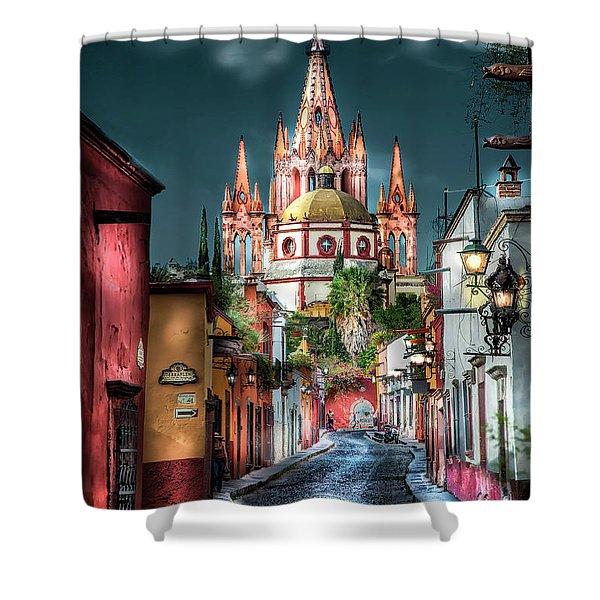 Fairy Tale Street Shower Curtain