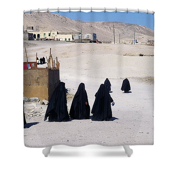 Faith Past And Present - Mourners Shower Curtain