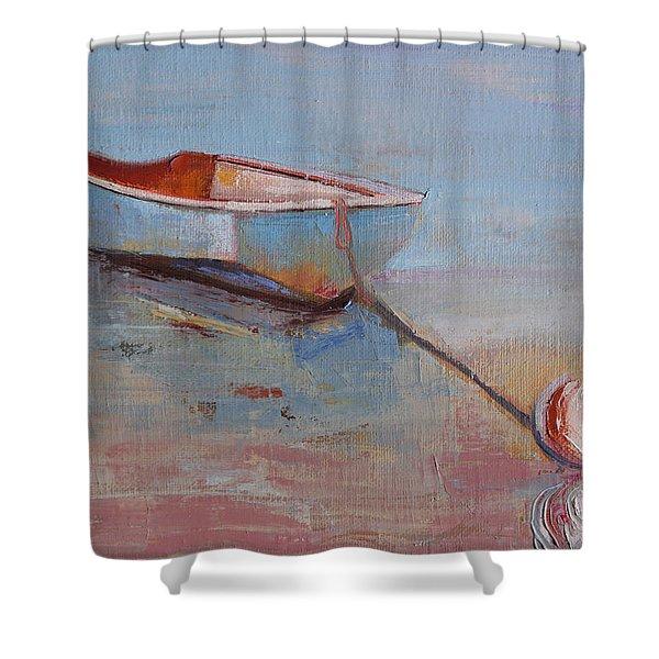 Faithful Dinghy Shower Curtain