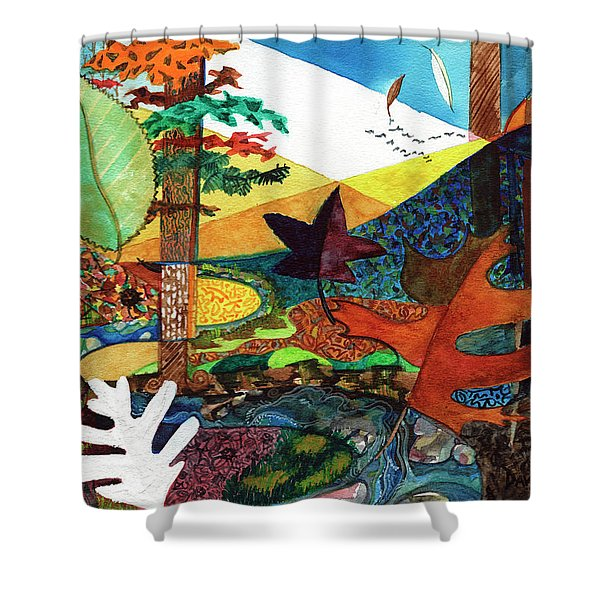 Fall Along The Patuxent Shower Curtain