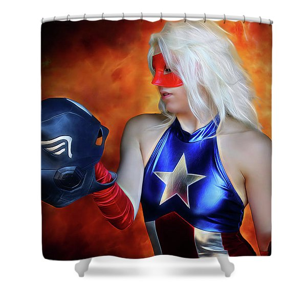 Fall And Rise Of A Hero Shower Curtain