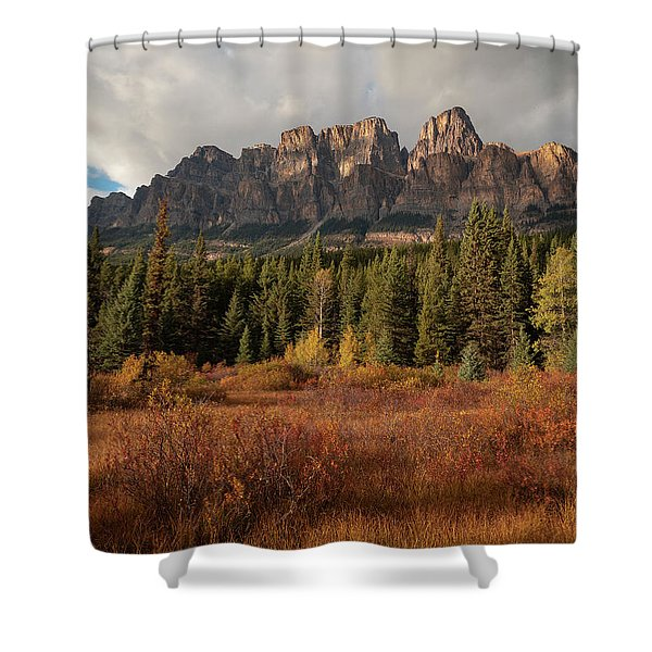 Fall At Castle Mountain Shower Curtain
