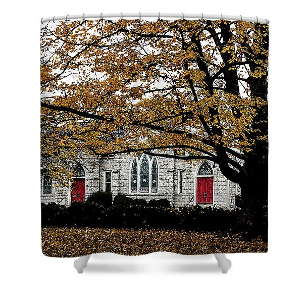 Fall At Church Shower Curtain