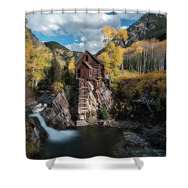 Fall At Crystal Mill Shower Curtain
