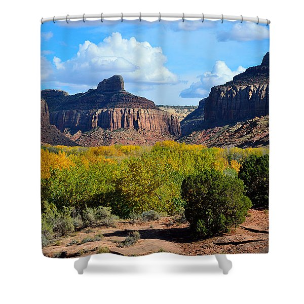 Fall At Indian Creek Shower Curtain