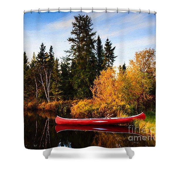 Fall At The Lake Shower Curtain