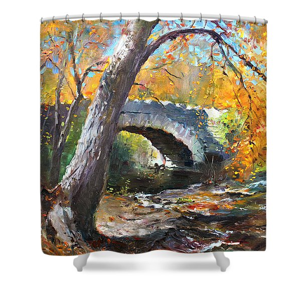 Fall At Three Sisters Islands Shower Curtain