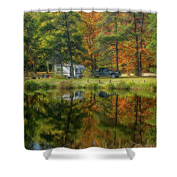 Fall Camping Shower Curtain