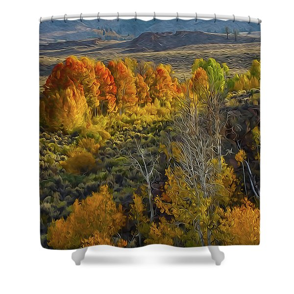 Fall Colors At Aspen Canyon Shower Curtain