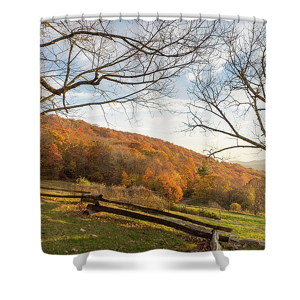 Fall Colors At The Moses Cone Estate Shower Curtain