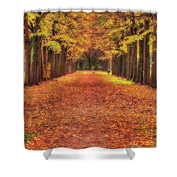 Fall Colors Avenue Shower Curtain