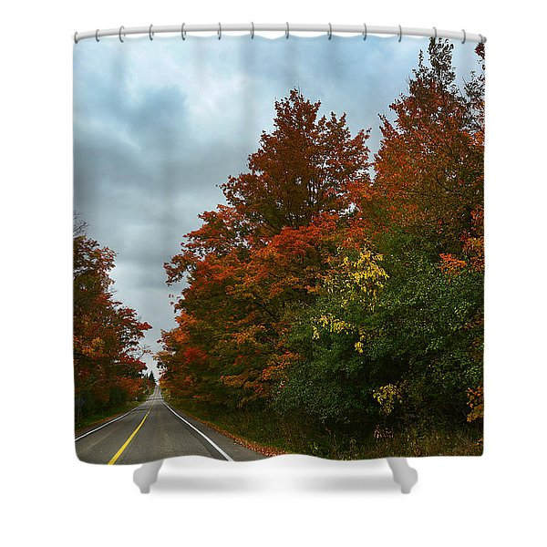 Fall Colors Dramatic Sky Shower Curtain