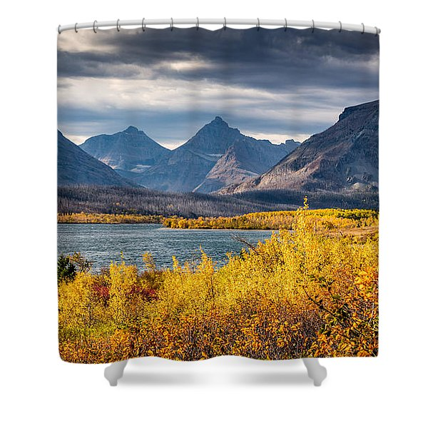 Fall Colors In Glacier National Park Shower Curtain
