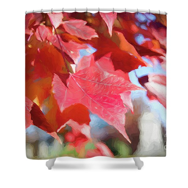 Fall Colors Oil Shower Curtain