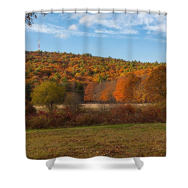 Fall Colors On Great Blue Hill Shower Curtain