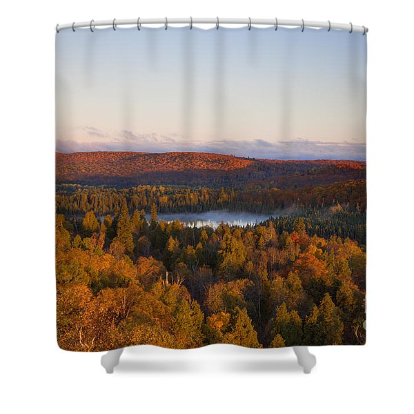 Fall Colors Orberg Mountain North Shore Minnesota Shower Curtain