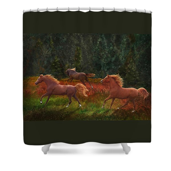 Fall Dancers Shower Curtain