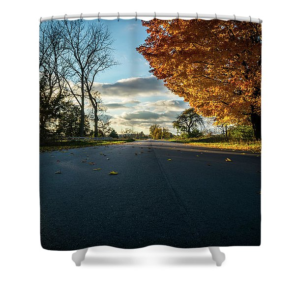 Shower Curtain featuring the photograph Fall Day by Lester Plank