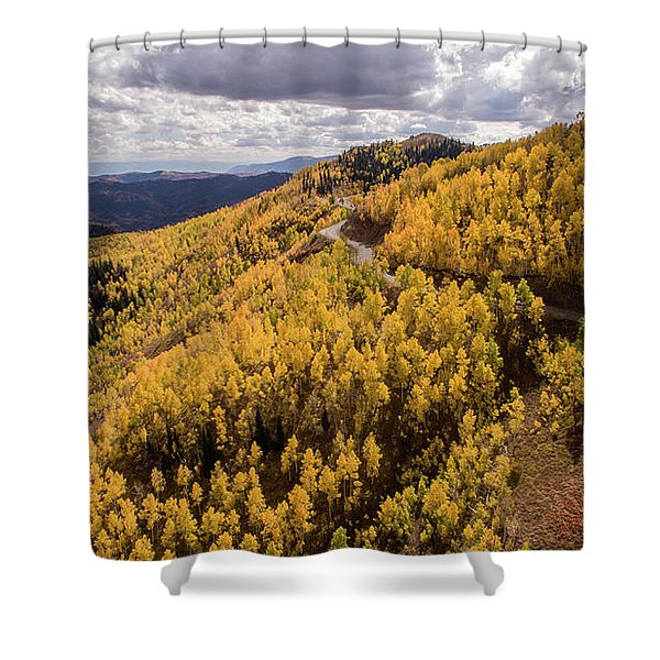 Fall Drive Shower Curtain