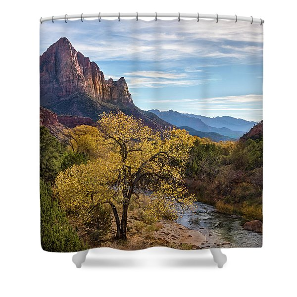 Fall Evening At Zion Shower Curtain
