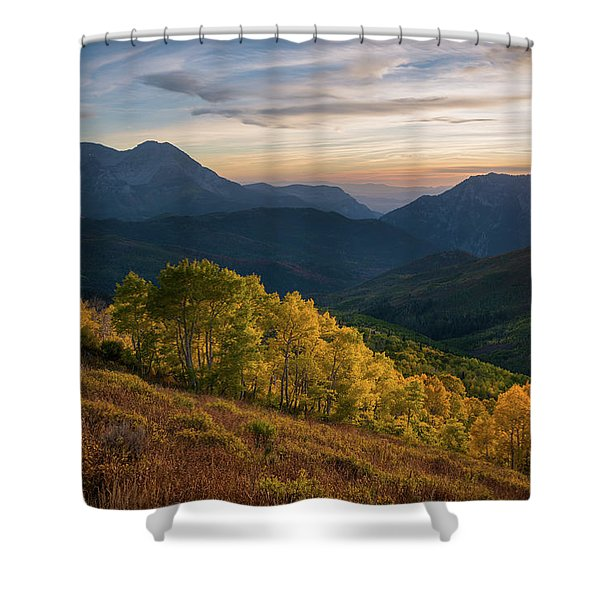 Fall Evening In American Fork Canyon Shower Curtain