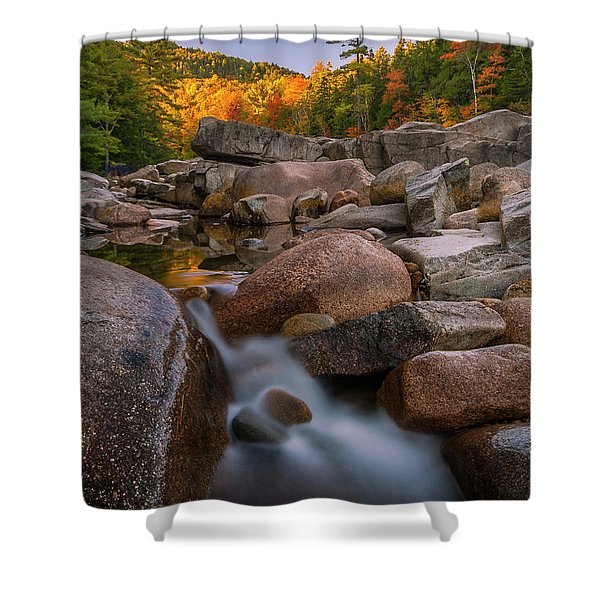Fall Foliage In New Hampshire Swift River Shower Curtain